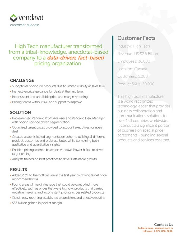 Vendavo-Customer-Success-HighTech-2013